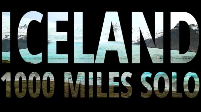 Iceland Expedition Cookie Taylor 2020 1000 Miles Solo